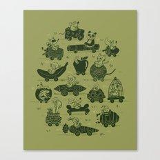 Critter Cars Canvas Print