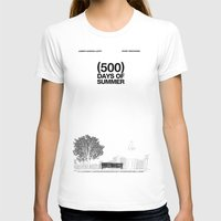 shipping T-shirts featuring (500) Days of Summer by Martin Lucas