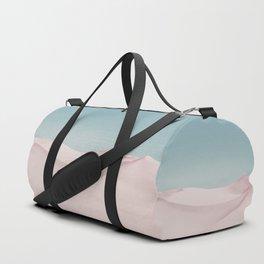 Surreal Pastel Desert Travel Art Duffle Bag