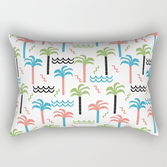 summer tropical shapes modern minimal abstract pattern trendy gifts Rectangular Pillow