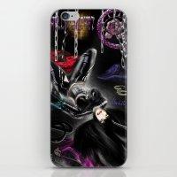 monika strigel iPhone & iPod Skins featuring Monika by RebelInkGirl