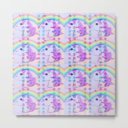 It's Not All Unicorns And Rainbows....We Also Have Polka Dots Metal Print