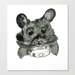 Mouse with the Ring Canvas Print