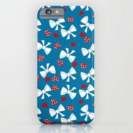 Lace gift wrap blue d iPhone Case
