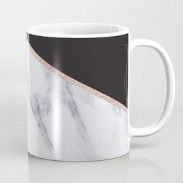 Gilded ebony and soft white marble Coffee Mug
