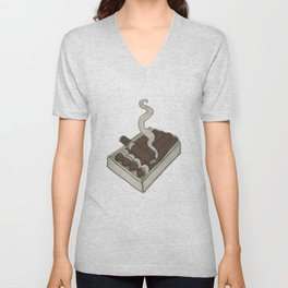 A puff Unisex V-Neck
