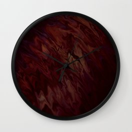 Spilled Wine Liquified Satin Wall Clock