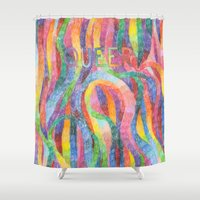 queer Shower Curtains featuring queer rainbows by ElenaM
