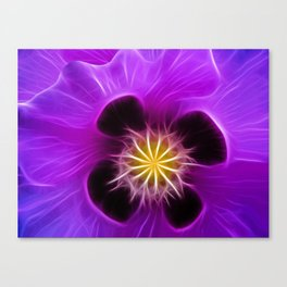 Lilac Poppy Canvas Print