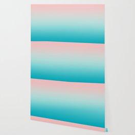 Pastel Ombre Millennial Pink Blue Teal Gradient Pattern Wallpaper