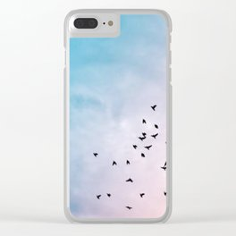 Pastel sky Clear iPhone Case