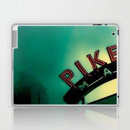 Pike Place Market at Dawn Laptop & iPad Skin