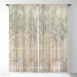 look at Mediterranean terrace Sheer Curtain