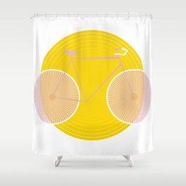 Pink Solar Bike Shower Curtain