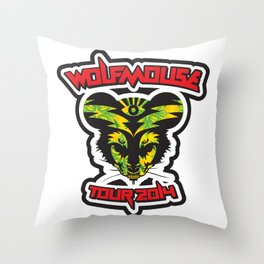 Wolfmouse at the Sherman Oaks Arena Throw Pillow