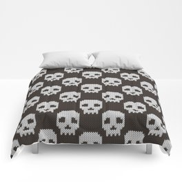 Knitted skull pattern Comforters