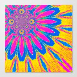 The Modern Flower Rainbow Canvas Print