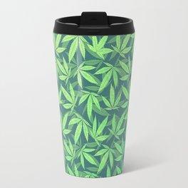 Cannabis / Hemp / 420 / Marijuana  - Pattern Travel Mug