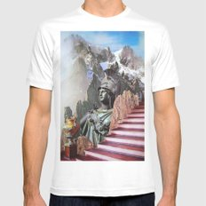 Stairway to the Gods Mens Fitted Tee White MEDIUM