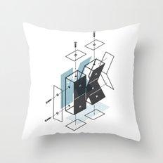 The Exploded Alphabet / K Throw Pillow