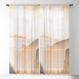 Yosemite Valley Burn - Sunrise Sheer Curtain