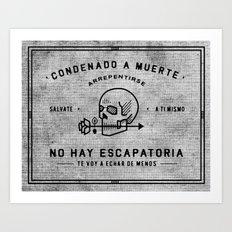 Condenado A Muerte - White Art Print