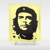 che Shower Curtains featuring Che Guevara  by panamashirt