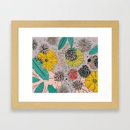 Olga loves flowers Framed Art Print