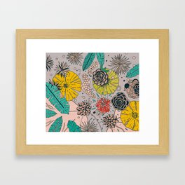 Olga loves flowers Framed Art Print