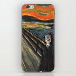 The Silence - When The Doctor Meets Munch iPhone Skin