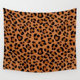 Leopard Print Scribble Pattern Wall Tapestry