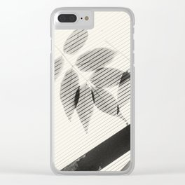 Forgotten Leaves on Plastic Roof Abstract Clear iPhone Case
