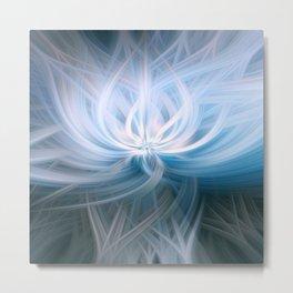 Blue Surf Swirl Blend Metal Print