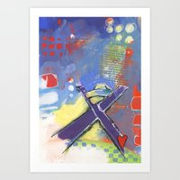 o holy night christmas manger scene Art Print
