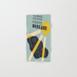 Vintage poster - Planned Housing Fights Disease Hand & Bath Towel