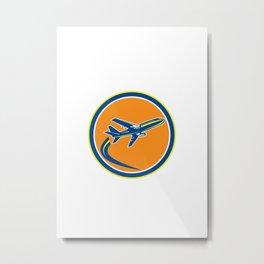 Commercial Jet Plane Airline Flying Retro Metal Print