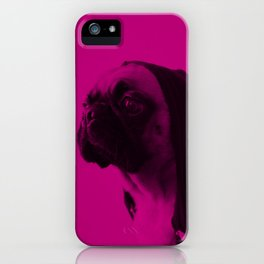 Pink Pug iPhone Case