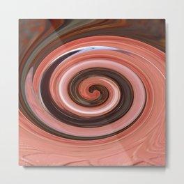 Swirl 01- Colors of Rust / RostArt Metal Print