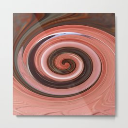 Swirl 01- Colors of Rust / RostArt Metal Print