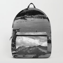 adventure park hög alps serfaus fiss ladis tyrol austria europe black white Backpack
