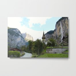 Fairytale Village - Lauterbrunnen Switzerland Metal Print