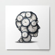 Time is gold Metal Print