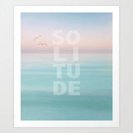 Solitude Calm Waters Art Print