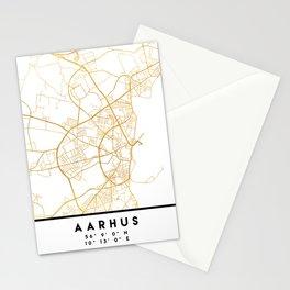 AARHUS DENMARK CITY STREET MAP ART Stationery Cards