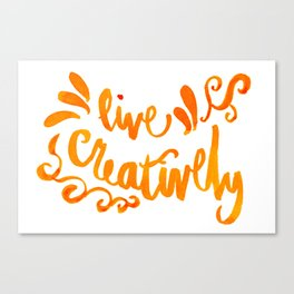 Live Creatively - Orange Palette Canvas Print