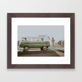 summer road trip iv Framed Art Print