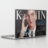 shingeki no kyojin Laptop & iPad Skins featuring SnK Magazine: Levi by emametlo