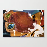 cycling Canvas Prints featuring Cycling by Robin Curtiss