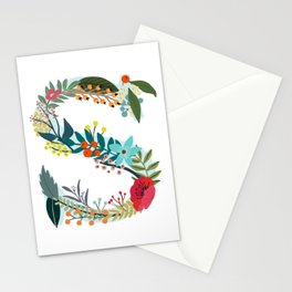 Monogram Letter S Stationery Cards