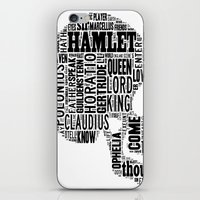 hamlet iPhone & iPod Skins featuring Shakespeare's Hamlet Skull by MollyW